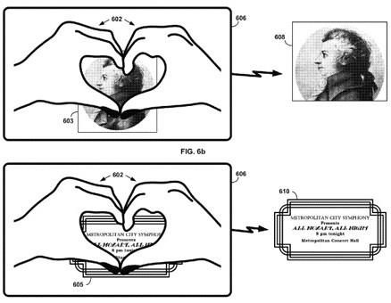 L'immagine contenuta nel nuovo brevetto dedicato a Google Glass