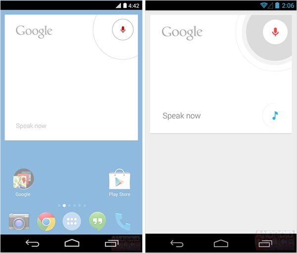 L'interfaccia di Android 4.4 KitKat in un mock-up
