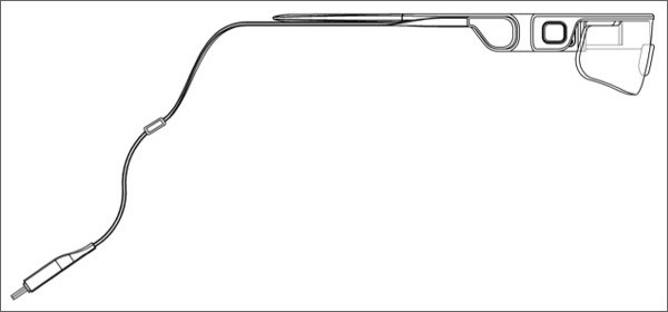 Un'immagine dal brevetto Samsung per la realizzazione di occhiali smart dedicati allo sport