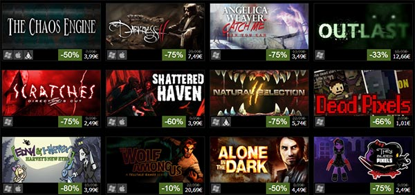 Alcuni dei giochi e contenuti aggiuntivi scontati su Steam tra le Offerte di Halloween