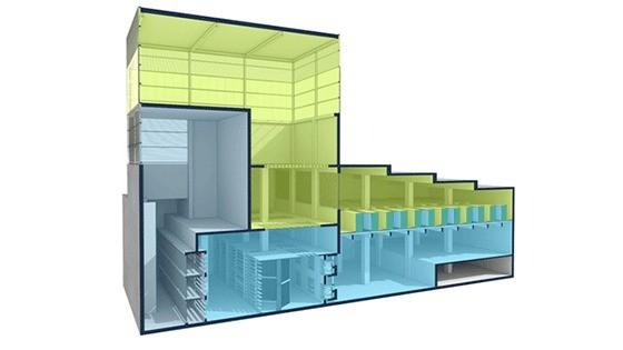 ENI Green Data Center - Struttura delle torrette