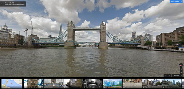 Immagini panoramiche a 360 gradi per navigare sulle acque del Tamigi con Google Street View
