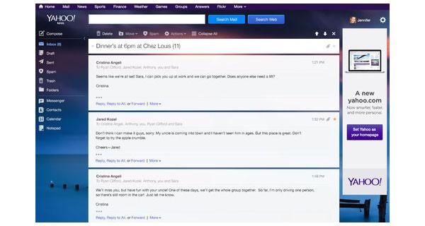 Anche la versione desktop di YahooMail è stata migliorata in occasione del 16° compleanno del servizio di hosting, uno dei più utilizzati al mondo.