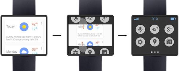Un concept mostra come potrebbe essere Google Watch
