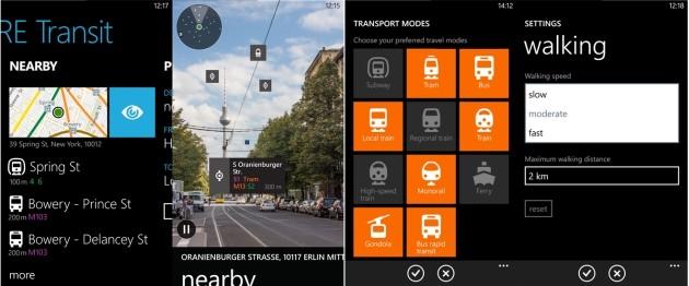 HERE Transit trova le stazioni più vicine con la tecnologia di realtà aumentata LiveSight.