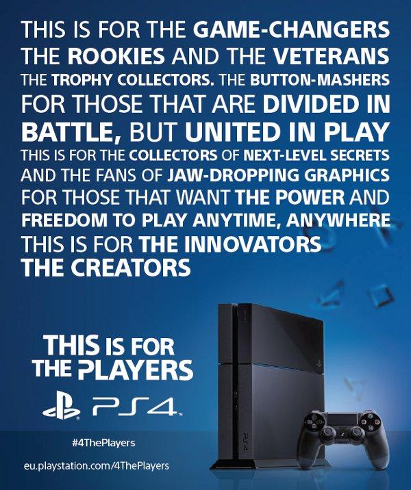 PS4, il messaggio di Sony ai giocatori