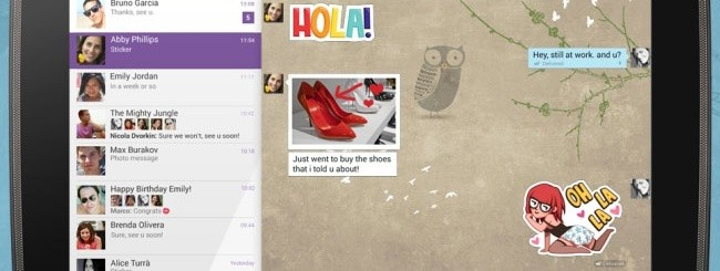 Viber su tablet Android