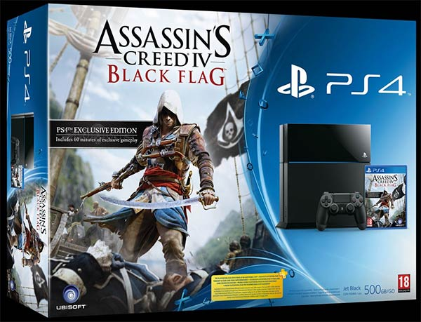 Il bundle di PlayStation 4 con Assassin's Creed 4: Black Flag