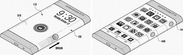 """Altre immagini dal brevetto Samsung sull'impiego dei display """"piegati"""" in ambito smartphone"""