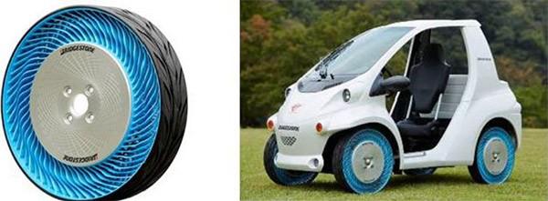 """Gli pneumatici """"air free"""" di seconda generazione, presentati da Bridgestone al Tokyo Motor Show 2013"""