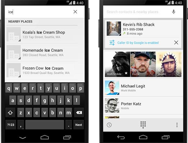 Le novità introdotte da Google nell'applicazione Telefono di Android 4.4 KitKat