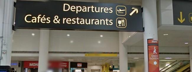 L'aeroporto di Gatwick su Street View