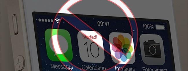 iPhone vietato