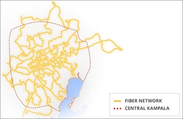 La rete in fibra ottica di Project Link realizzata da Google a Kampala, in Uganda
