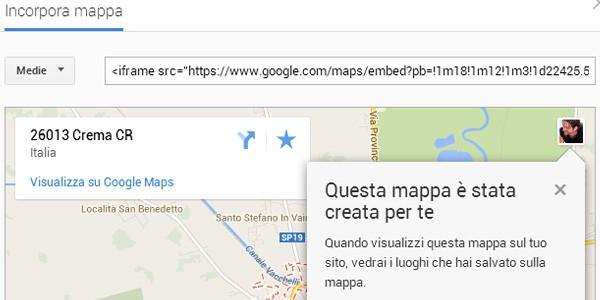 Le nuove opzioni per l'embed delle mappe offerte da Google Maps