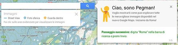 Il ritorno di Pegman su Google Maps, per celebrare il lancio delle novità nella versione desktop della piattaforma