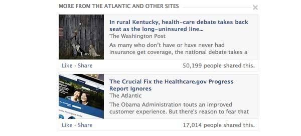 Un esempio di articoli segnalati direttamente sotto quello letto dall'utente, per provare ad indovinare i suoi interessi, e diminuire la percentuale di articoli persi sul feed, calcolata in un 43%.