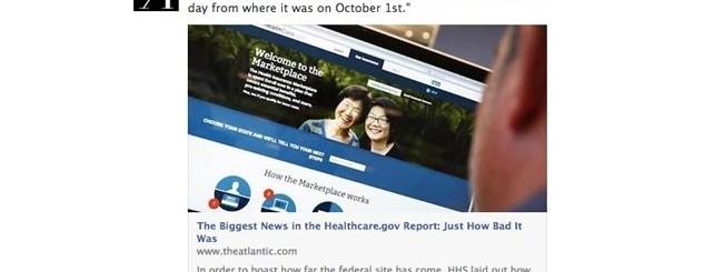 Facebook news feed articoli
