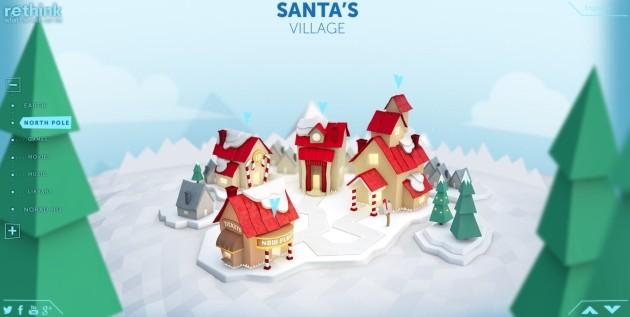 Il villaggio di Babbo Natale al Polo Nord.