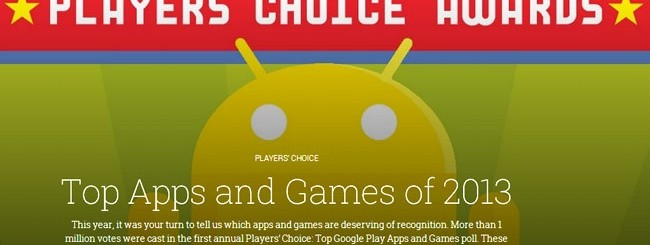 Android Player's Choice Awards 2013