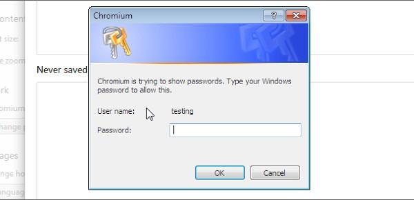 Chrome migliora la sicurezza nella visualizzazione di username e password
