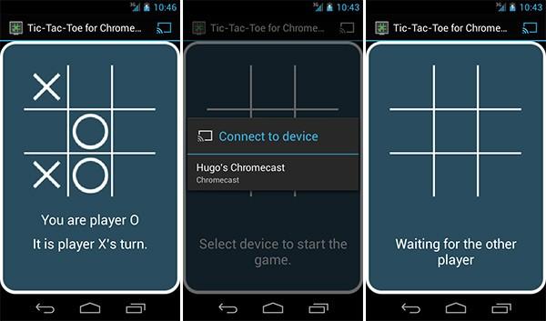 L'applicazione TicTacToe per giocare a Tris su Chromecast