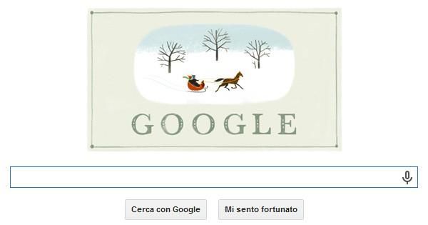 Il doodle pubblicato oggi, martedì 24 dicembre, sulla homepage di Google, per festeggiare la vigilia di Natale