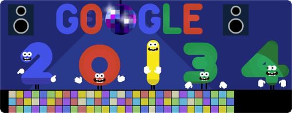 Il doodle animato di Google per salutare il 2013 e dare il benvenuto al nuovo anno