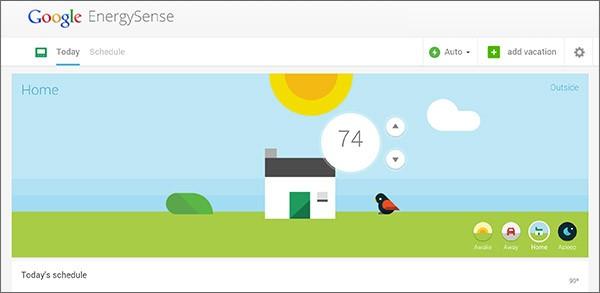 L'applicazione Google EnergySense in esecuzione su dispositivi Android, utile per monitorare il consumo energetico all'interno dell'abitazione