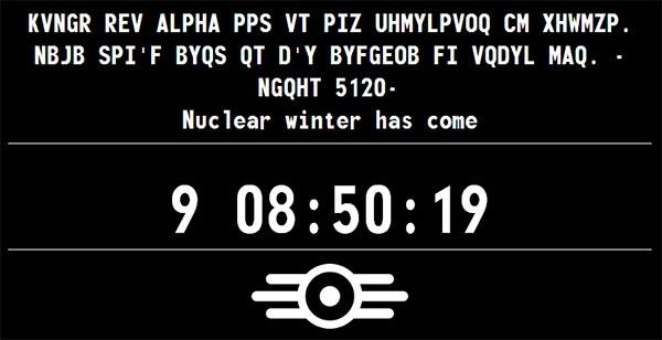 Il nuovo messaggio in codice, sul presunto sito teaser di Fallout 4