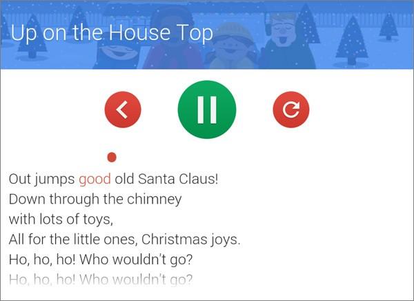 """L'easter egg di Google Now """"Let's go caroling"""" con i canti di Natale"""