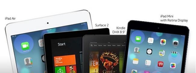 iPad, Surface e Kindle Fire