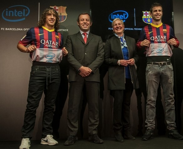 Il Barcellona presenta la partnership con Intel