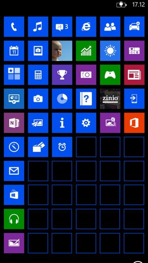 Home screen Nokia Lumia 1520