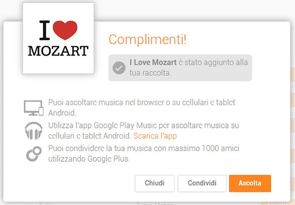 """La raccolta """"I Love Mozart"""" è in download gratuito su Google Play Music"""