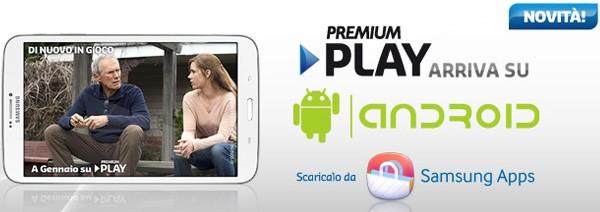 L'applicazione Premium Play di Mediaset è disponibile per Android, al momento in esclusiva sui tablet Samsung
