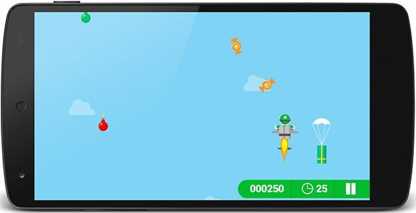 L'applicazione Santa Tracker in esecuzione su uno smartphone Android