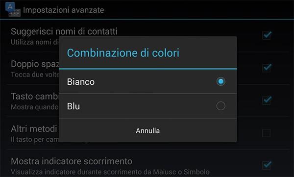Tastiera Google permette ora di scegliere tra le combinazioni di colori bianco oppure blu