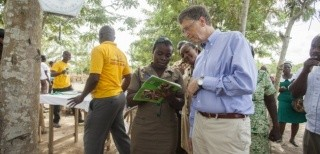 Bill Gates in Ghana