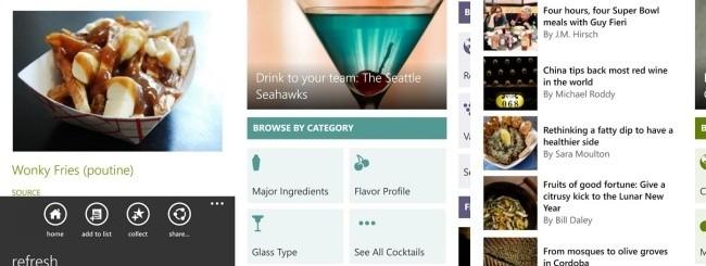 Bing Food & Drink WP8