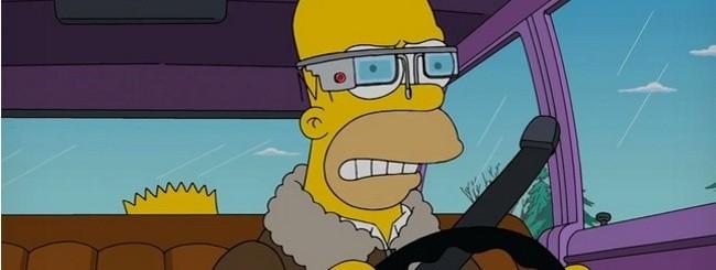 Homer Simpson con i Google Glass