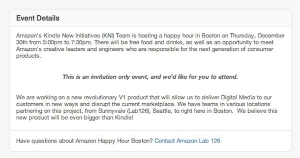 Invito Amazon per il 30 gennaio