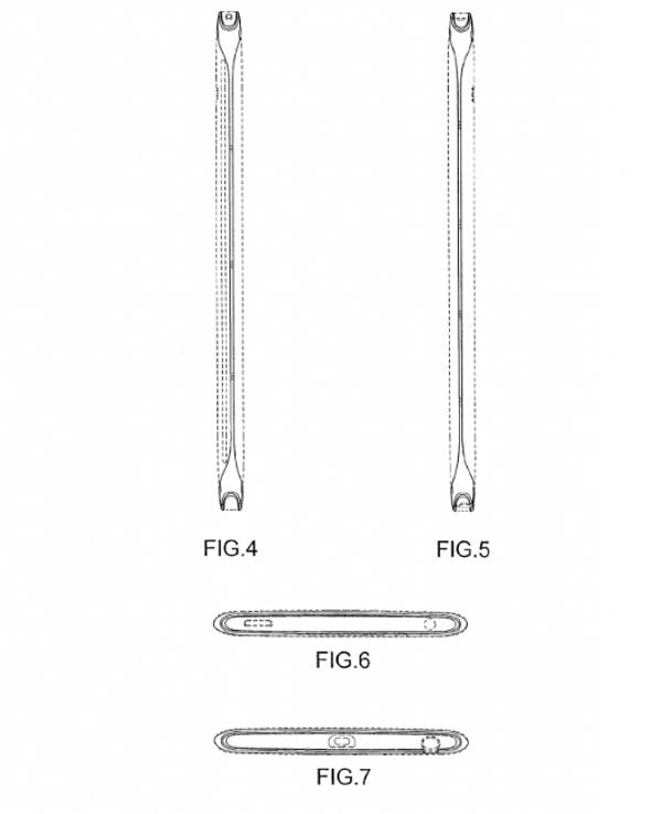 Le parti laterali dei futuri smartphone Samsung nella domanda di brevetto