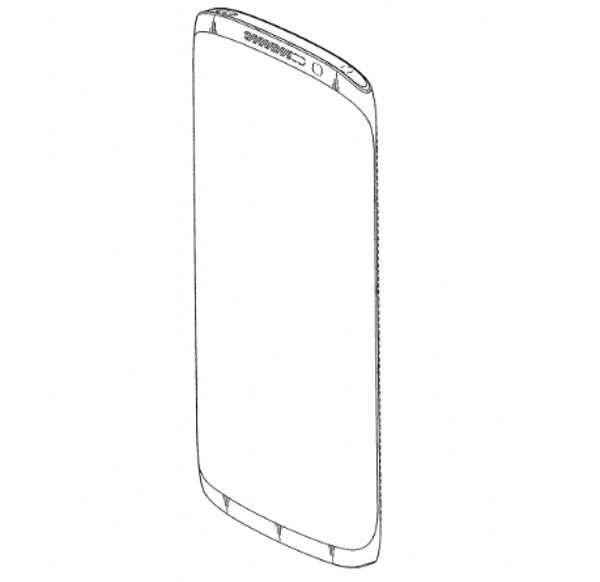Nuovo design per smartphone Samsung nella domanda di brevetto
