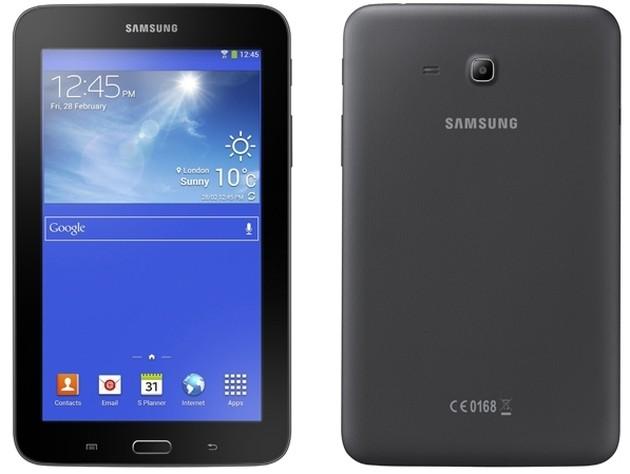 Il Samsung Galaxy Tab 3 Lite in versione nera.