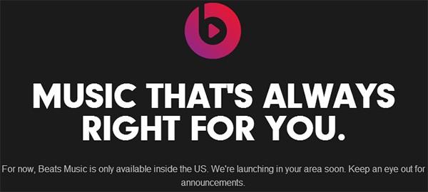 Beats Music sarà disponibile inizialmente solo negli Stati Uniti