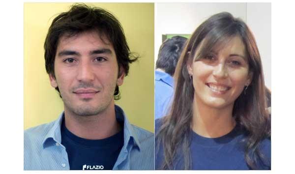 Flavio ed Elisa Fazio: la startup è stata fondata da due fratelli. Lei ingegnere, lui programmatore.