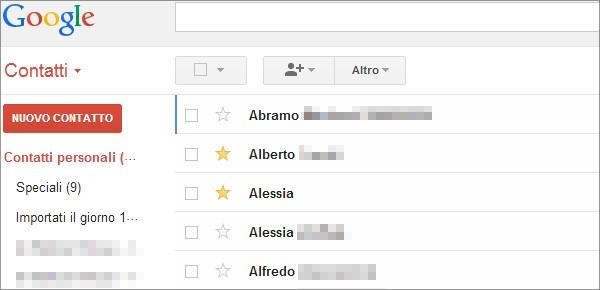 Da oggi Gmail permette di contrassegnare i propri contatti come Speciali