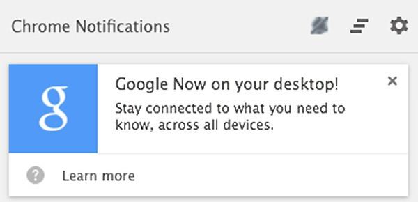 L'assistente virtuale Google Now già visto in azione su Android debutta ufficialmente anche nelle versioni desktop del browser Chrome