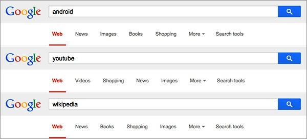 Le opzioni di ricerca mostrate nelle SERP di Google cambieranno in base alle query